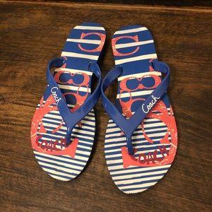 """Coach """"Kali"""" Flip Flop sandals, size 7/8"""